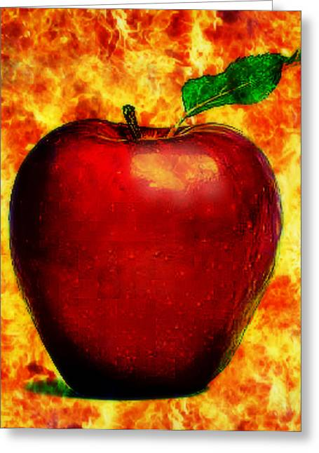The Apple Of Eris Greeting Card by Persephone Artworks