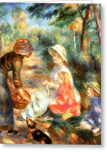 The Apple Seller Greeting Card