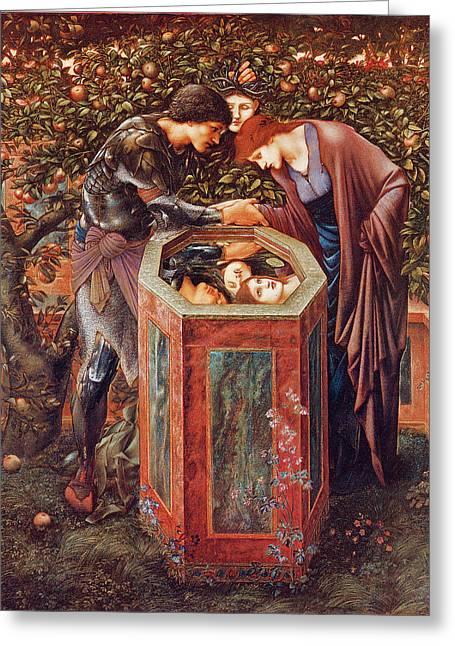 The Baleful Head Greeting Card by Sir Edward Burne-Jones