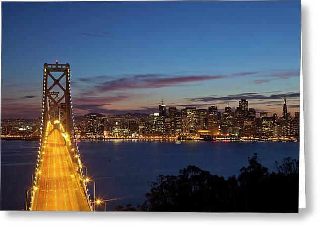 The Bay Bridge From Treasure Island Greeting Card by Chuck Haney