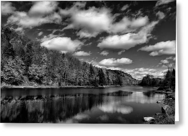 Beautiful Bald Mountain Pond Greeting Card
