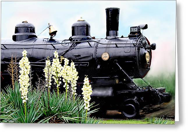 The Black Steam Engine Greeting Card