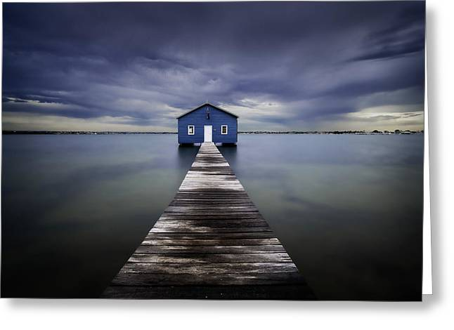 The Blue Boatshed Greeting Card