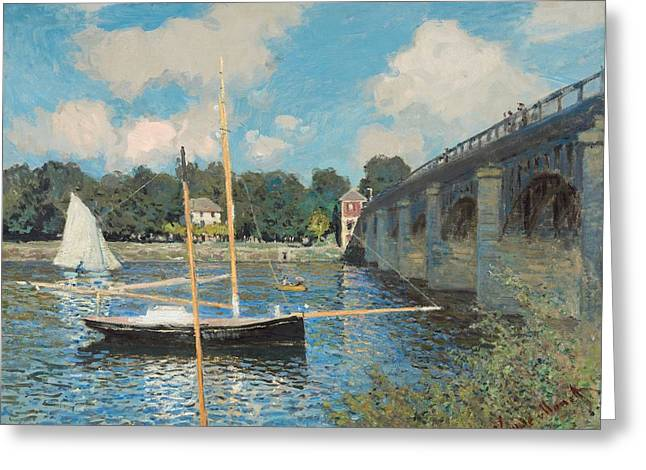 The Bridge At Argenteuil Greeting Card by Claude Monet
