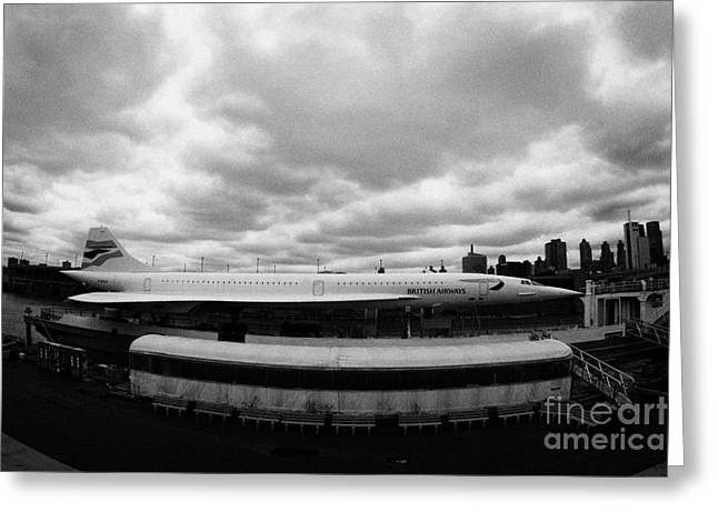 the British Airways Concorde exhibit new york Greeting Card