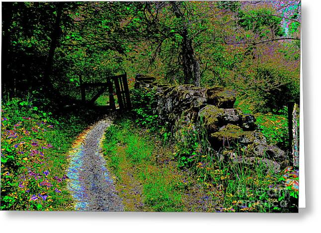 The Broken Gate Greeting Card by Raphael OLeary