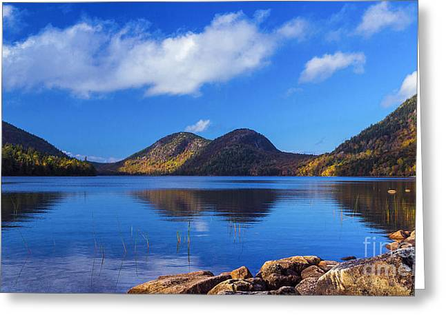 The Bubbles And Jordan Pond. Greeting Card