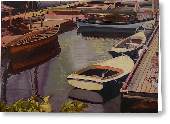 The Canvas Boat Greeting Card by Thu Nguyen