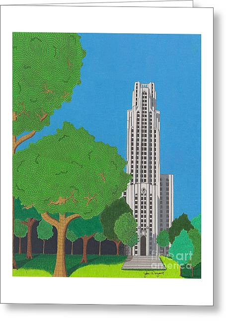 The Cathedral Of Learning Greeting Card