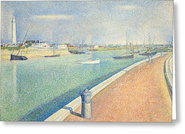 The Channel Of Gravelines Greeting Card by Georges Seurat