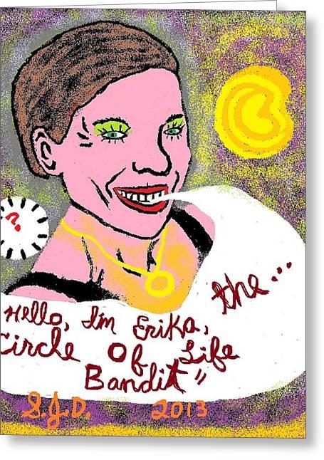 The Circle Of Life Bandit Greeting Card by Joe Dillon