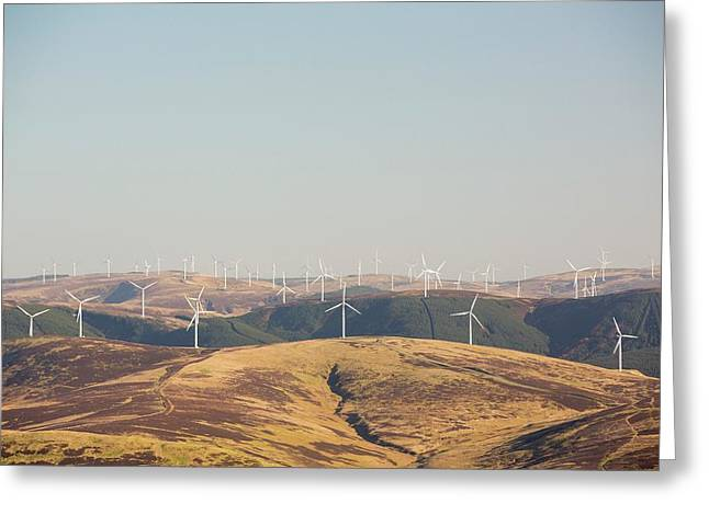 The Clyde Windfarm Greeting Card