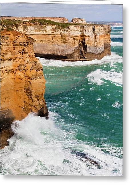The Coastline Near Loch Ard Gorge, View Greeting Card