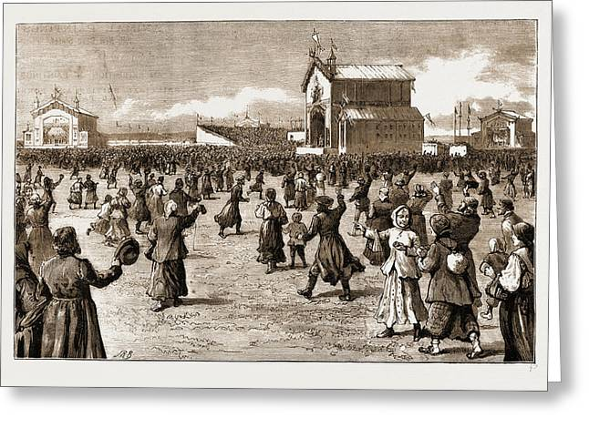 The Coronation Of The Czar Of Russia, 1883 The Peoples Fete Greeting Card