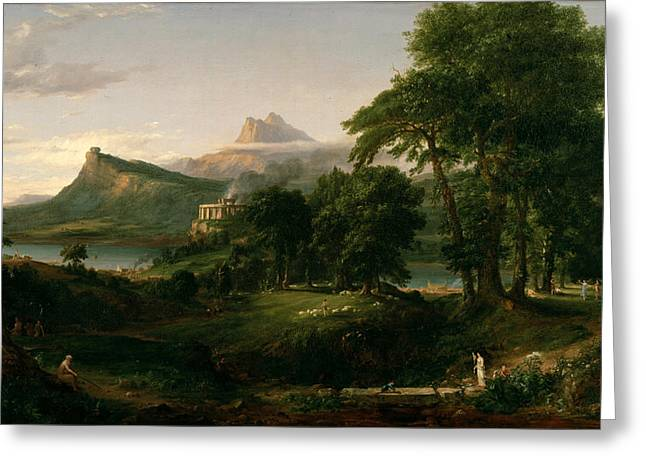 The Course Of Empire The Arcadian Or Pastoral State Greeting Card