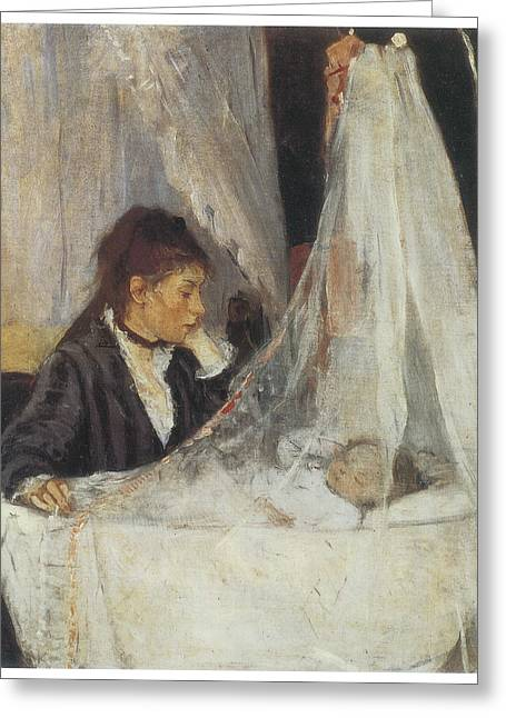 The Cradle Greeting Card by Berthe Morisot