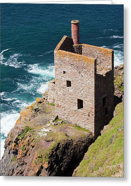The Crown Tin Mine Greeting Card by Ashley Cooper