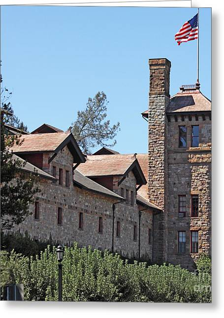 The Culinary Institute Of America Greystone St Helena Napa California 5d29498 Square Greeting Card by Wingsdomain Art and Photography