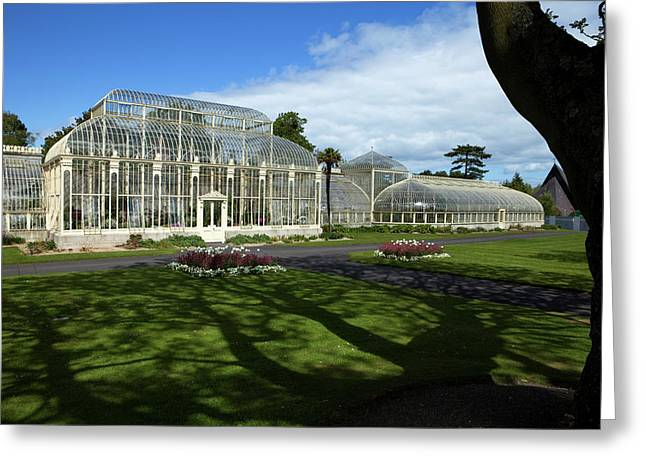 The Curvilinear Glasshouses, National Greeting Card by Panoramic Images
