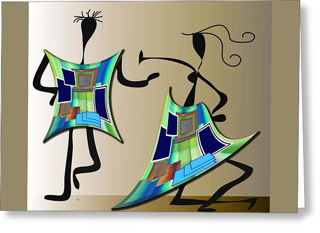 The Dancers Greeting Card by Iris Gelbart