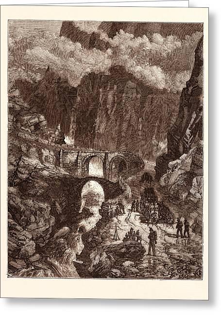 The Devils Bridge Greeting Card