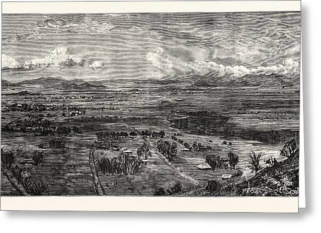 The Disaster To British Troops In Manipur Northern India Greeting Card by Indian School
