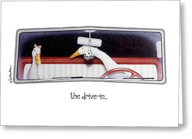 The Drive-in... Greeting Card by Will Bullas