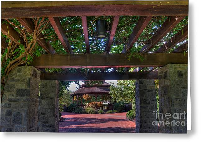 The Entrance To The Alumni Memorial Grove Greeting Card by Mark Dodd