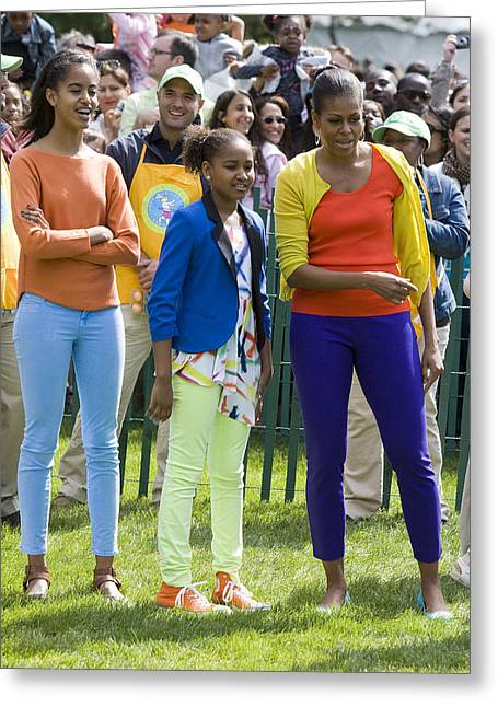 The First Lady And Daughters Greeting Card