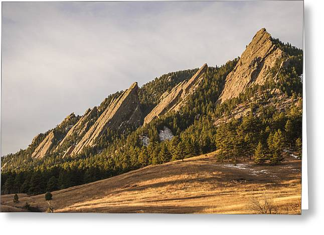 The Flatirons 2 Greeting Card by Aaron Spong