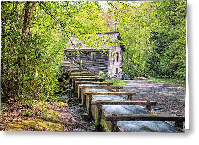 The Flume At Mingus Mill Greeting Card