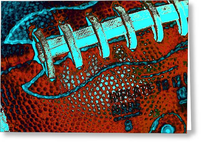 The Football Greeting Card by David Patterson