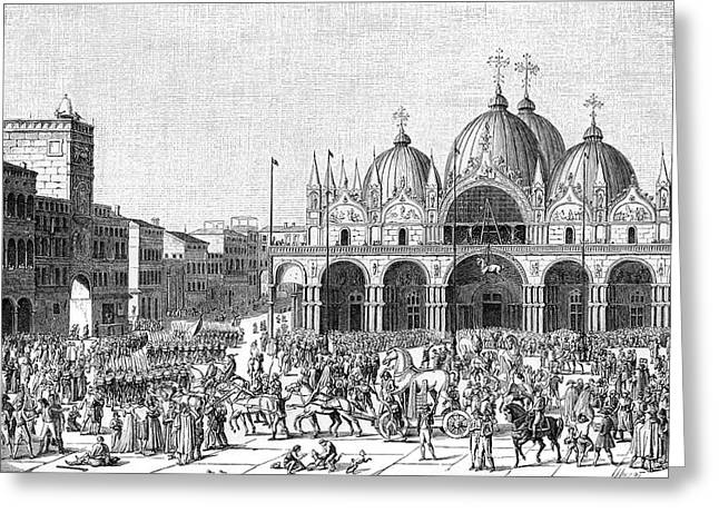 The French Pillage Venice,  Carrying Greeting Card by Mary Evans Picture Library