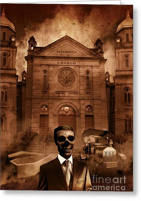 The Funeral Director Greeting Card by Jorgo Photography - Wall Art Gallery