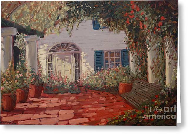 The Garden Greeting Card by Monica Caballero
