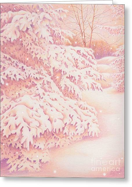The Gently Falling Snow Greeting Card