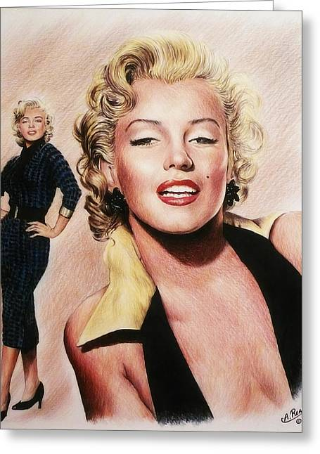 The Glamour Days Marilyn Monroe Greeting Card