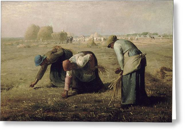 The Gleaners Greeting Card by Jean Francois Millet