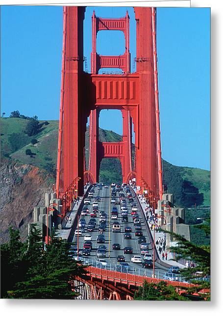 The Golden Gate Bridge And The Entrance Greeting Card