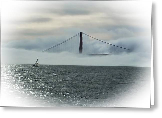 The Golden Gate Greeting Card by Judy  Johnson