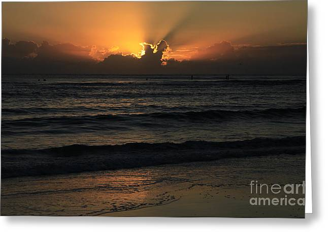 The Golden Glow Of Sunrise Greeting Card