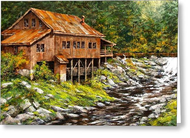 The Grist Mill Greeting Card by Jim Gola