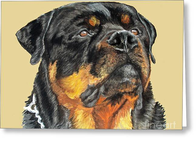 The Guardian Greeting Card by Ann Marie Chaffin