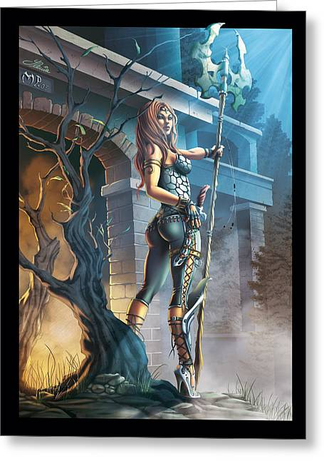 The Guardian Greeting Card by Ylenia Art