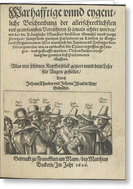 The Gunpowder Plot Conspirators Greeting Card by British Library