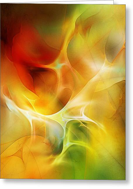 Greeting Card featuring the digital art The Heart Of The Matter by David Lane