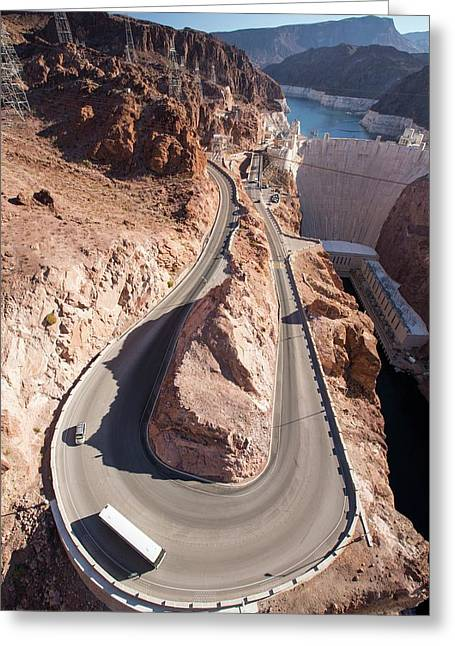 The Hoover Dam And Lake Mead Greeting Card