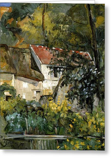 The House Of Pere Lacroix At Auvers Greeting Card