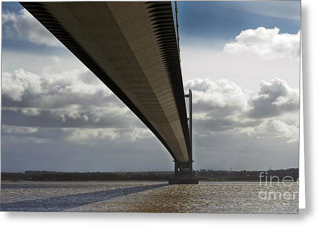 The Humber Bridge Greeting Card by Andrew Barke