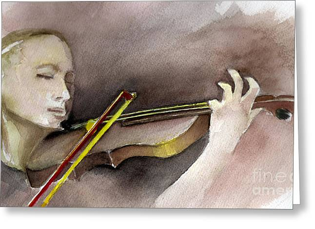 The Violin Greeting Card